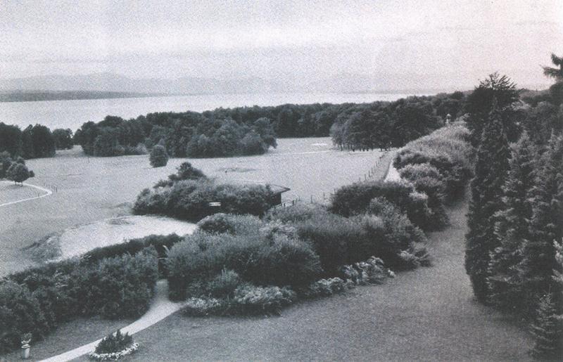 1934 Blick über den Golfplatz